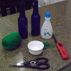 Biddle Bits: How to cut glass bottles using polish remover & a flame