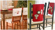 Bonitas fundas navideñas para sillas | Manualidades