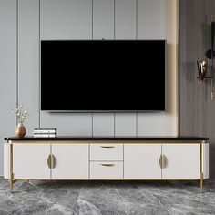 Black Tv Console, Tv Console Design, Tv Console Decorating, Tv Console Cabinet, Tv Console Modern, Modern Tv Wall Units, Tv Cabinet Design, Glass Bedroom Furniture, Simple Tv Unit Design