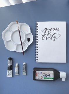 Brush Lettering in Different Media (with Videos!) - learn how to do brush lettering with watercolour, gouache and sumi ink! Brush Lettering (with Videos!)