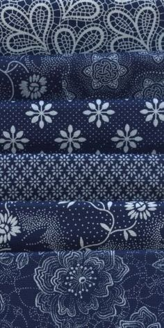 Indigo Blues could be mixed for seating surfaces on upholstery pieces. I LOVE indigo. Azul Indigo, Bleu Indigo, Blue And White Fabric, White Fabrics, Blue Fabric, Le Grand Bleu, Electric Quilt, Love Blue, Fabulous Fabrics