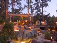 When designing your backyard, don't forget to carefully plan your lighting as well. Get great ideas for your backyard oasis here with our landscape lighting design ideas. Garage Lighting, Backyard Lighting, Outdoor Lighting, Lighting Ideas, Lighting System, Exterior Lighting, Porches, Home Design, Modern Design
