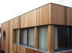 Woodface houten gevelbekleding modern ontwerp christophe baetens houten gevelbekelding - Bungalow ontwerp hout ...