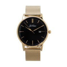 Our is an ultra slim design that boasts elegance and sophistication. This classic timepiece is simple yet stylish m Mesh Band, Gold Watch, Watches, Accessories, Design, Clocks, Clock, Design Comics