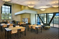 TMC Lorca tables and Wyoming chairs. ==Library Interior Designs== library furniture distributors,library furniture,school library furniture,library bookcase design,library inter...