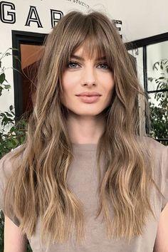 Long Haircuts With Bangs, Medium Long Haircuts, Haircuts For Thin Fine Hair, Medium Hair Cuts, Long Hair Cuts, Medium Hair Styles, Curly Hair Styles, Long Haircuts For Women, Haircut Medium