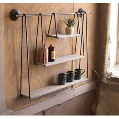 Save space and stay organized with wall shelves and floating shelves from Pottery Barn. Find wood, metal and glass shelves in various styles to complete your space. Rustic Wall Shelves, Creative Home Decor, Diy Home Decor, Hanging Shelves, Home Diy, Shelves, Diy Hanging Shelves, Wall Shelves, Rustic Wood Walls