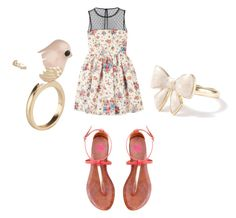 """""""Sair com as tirulipas ??"""" by gabyluanete ❤ liked on Polyvore featuring beauty, RED Valentino, 2b bebe and ALDO"""