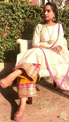 Dress Do you want to find out about quality Latest Elegant Salwar suit also Designer ladies Punjabi Suit then you'll like this Click Visit link above for more info Pakistani Dresses, Indian Dresses, Indian Outfits, Indian Attire, Indian Ethnic Wear, Kurta Designs Women, Blouse Designs, Traditional Fashion, Traditional Outfits
