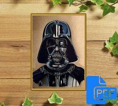 Darth Vader Star Wars cross stitch pattern Hunter cross stitch