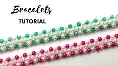 DIY Bracelets. Easy beading tutorial. 1 beaded pattern for 2 beautiful a...