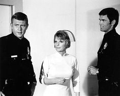 The cast of Adam-12 with Dixie Mackal at Rampart Emergency.