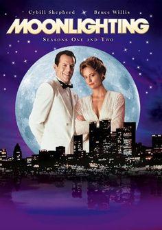 Created by Glenn Gordon Caron. With Cybill Shepherd, Bruce Willis, Allyce Beasley, Curtis Armstrong. The quirky cases of a former model and a smart aleck detective who manage a private detective agency. Great Tv Shows, Old Tv Shows, Movies And Tv Shows, Cybill Shepherd, Bruce Willis, Moonlight Tv Series, Radios, 1980s Tv Shows, Sean Leonard