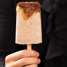 Chocolate and Almond Dukkah Frozen Yoghurt - how easy and healthy.  Lactose Intolerant  - make it with Soya Yoghurt instead