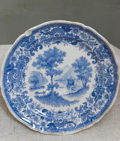 Pottery, Porcelain & Glass Alfred Meakin A Lovely Vintage Alfred Meakin Oval Plate/platter Blue On White,leighton Pattern