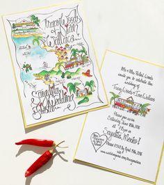 Wedding Map Custom Invitation By Designermapsbyzoe Invitations
