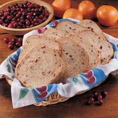 Cranberry Yeast Bread Machine Recipe - just add a little nutmeg and honey... Yum!