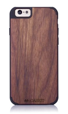 "iCASEIT Wood iPhone Case - Genuinely Natural, Unique & Premium quality for iPhone 6 (4.7"" Display) - Walnut / Black: Amazon.co.uk: Electronics"