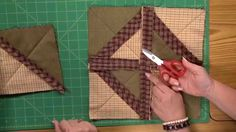 SCROLL DOWN and Watch the Video to make this unique Quilt As You Go Rag quilt. We couldn't locate a pattern for this. But if you watch the Video Closely you probably won't need one. The Triangles that are being sewn together in the Tutorial look like they were cut from 7 1/2′ squares. The …