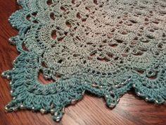 Crochet Shawl Ravelry: Fritillary Shawl pattern by Aparna Rolfe - Ravelry Crochet, Crochet Poncho, Bead Crochet, Crochet Scarves, Knitted Shawls, Crochet Clothes, Crochet Lace, Free Crochet, Shawl Patterns
