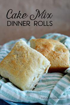 A fun recipe to try - Cake Box Dinner Rolls from www.thirtyhandmadedays.com