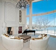 extravagant but these windows are to die for.. great way to enjoy the winter weather without having to leave your fireplace