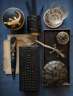 L'OBJET: 'Crocodile' Desk Collection (www.l-objet.com)