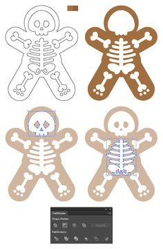 Create a Gingerdead man in Illustrator