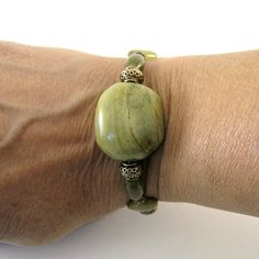 Green Turquoise Bracelet Natural Vegetable by CinLynnBoutique, $29.00