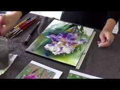 "Catherine REY- Démo aquarelle- ""Iris"""