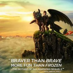 Well, I think both HTTYD2 and Frozen are fun, but it is way more braver than Brave