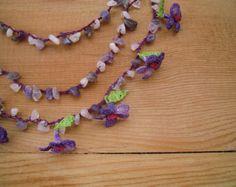 Beaded oya necklace crochet necklace Turkish oya by SenasShop