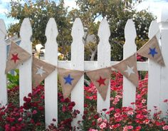 """With glitter red, white, and blue stars on one side and """"SUMMER"""" in light turquoise on the other side, this banner becomes a reversible and versatile decor item for July 4th and summer parties. Description from nerdwallet.com. I searched for this on bing.com/images"""