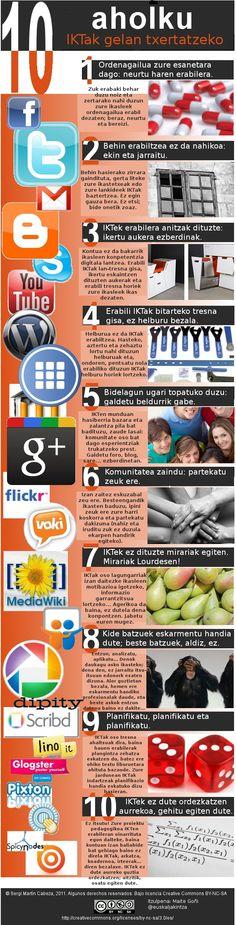 10 aholku IKTak gelan txertatzeko (http://www.maitego.com/2011/08/31/10-aholku-iktak-gelan-txertatzeko/)