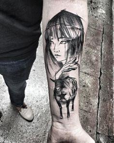 Tattoo inspired by Murakami's Wild Sheep Chase (by Inez Janiak)