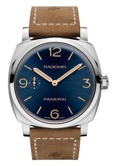Panerai Rdiomir 1940 3 Days Acciaio - blue dial