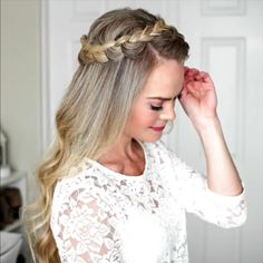 37 Dutch Braid Hairstyles - Braided Hairstyles With Tutorials Easy Hairstyles For Long Hair, Braided Hairstyles Tutorials, Braids For Long Hair, Girl Hairstyles, Everyday Hairstyles, Braided Hairstyles For Short Hair, Halo Hairstyle, Long Hair Tutorials, Halo Braid Tutorials