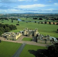 SCOTLAND: June 1984, this is the 6th castle I visited - Floors Castle near Kelso, Scottish Borders - Tarzan the Legend of Greystoke was filmed here.  Near the British border.