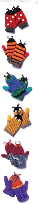 So cute! These would be great for children 4 years old and over, as the small pieces and parts might pose choking hazards for the 3 and under set.  Unbelievable Mitten Patterns