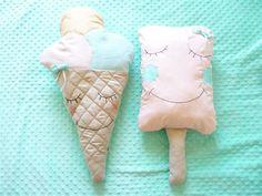 Amortiguador: cono de helado #DaWanda #hechoamano #diseño #handmade #DIY #niños #bebes #juguetes #decoracióninfantil