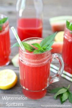 Watermelon Spritzers: just 5 ingredients!