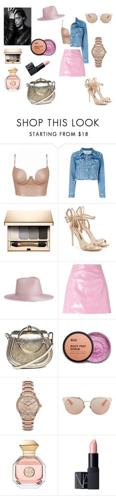 """""""Vinyl"""" by gloriatovizi on Polyvore featuring Off-White, Clarins, Sophia Webster, Janessa Leone, Miss Selfridge, Chloé, Burberry, Christian Dior, Tory Burch and NARS Cosmetics"""