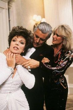 "A gallery of ""Dynasty"" publicity stills and other photos. Featuring Joan Collins, Linda Evans, John Forsythe, Diahann Carroll and others. Linda Evans, Frankie Avalon, Diahann Carroll, Boy George, Jack Coleman, Dynasty Tv Show, John Forsythe, Der Denver Clan, Dame Joan Collins"