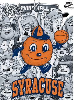 Syracuse Orange - Nike Sportswear Poster