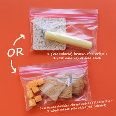 DIY 100-Calorie Snack Pack: Cheese & Crackers | CookingLight.com