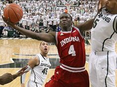 Victor Oladipo during the 2/19/13 game against MSU where he got his 1000th point (BTW, IU now has 4 players with over 1k points at the same time: Vic, Jordy Hulls, Christian Watford, and Cody Zeller...for the first time EVAR in IU history!)