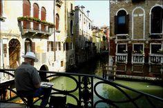 Artist in Venice, Italy