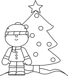 Black and White Christmas Gift Clip Art - Black and White ...