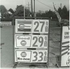 Gulf gas prices back in the good ole days Sweet Memories, Childhood Memories, Nostalgia, San Gabriel, Old Gas Stations, I Remember When, Good Ole, The Good Old Days, Vintage Ads