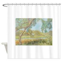 OLDFLORIDA CREEK Shower Curtain